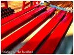 Staining & varnishing of bed