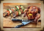 Roast chicken & caprese salad