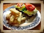 Paleo burger & polenta chips