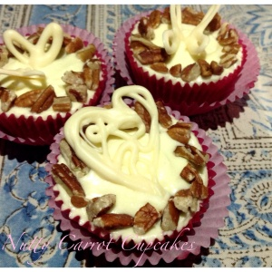 Nutty carrot cupcakes