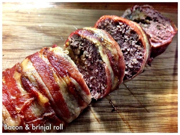 Bacon & brinjal roll