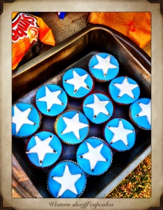 Sheriff cupcakes