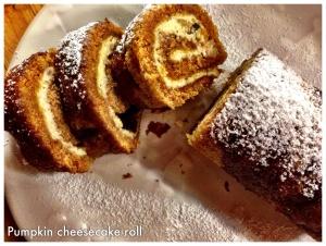 Cream cheese pumpkin roll