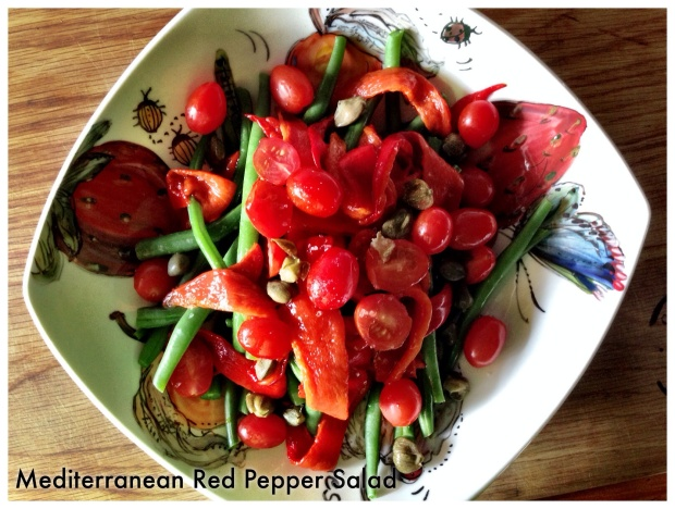 Mediterranean Red Pepper Salad