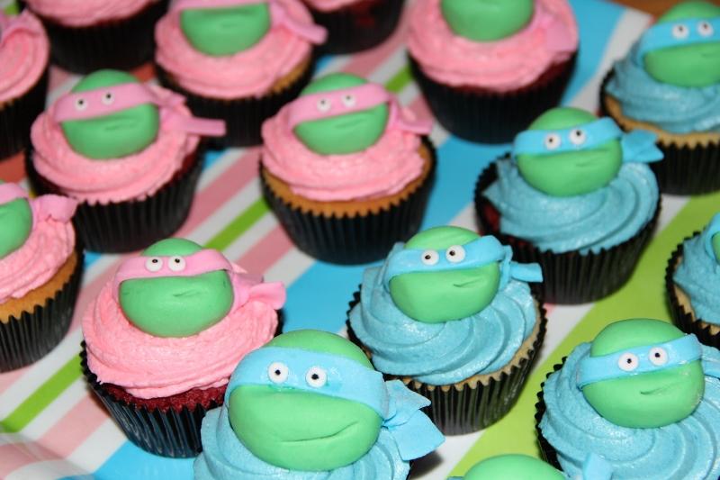Ninja Turtles Birthday Cake Cupcakes Bespoke Custom Cakes
