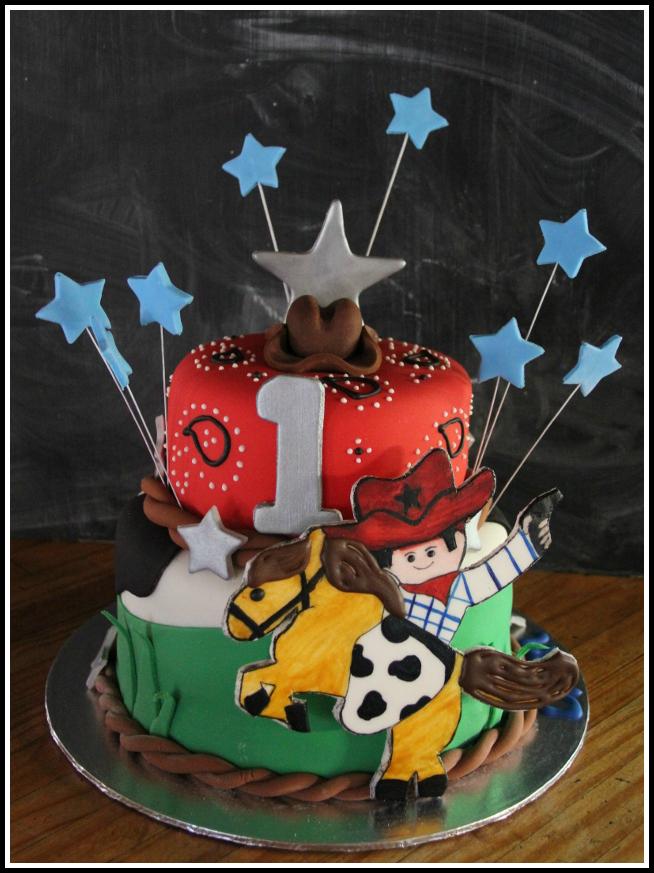 Astonishing Cowboy Themed 1St Birthday Cake Bespoke Custom Cakes Funny Birthday Cards Online Alyptdamsfinfo