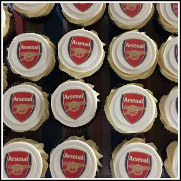 Arsenal Birthday Cupcakes