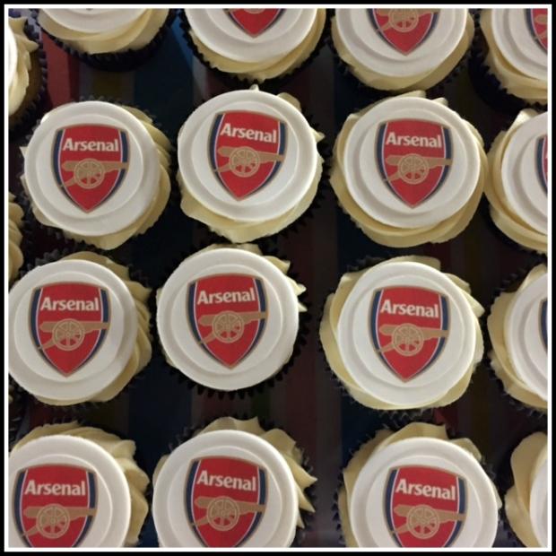 Arsenal Birthday Cupcakes