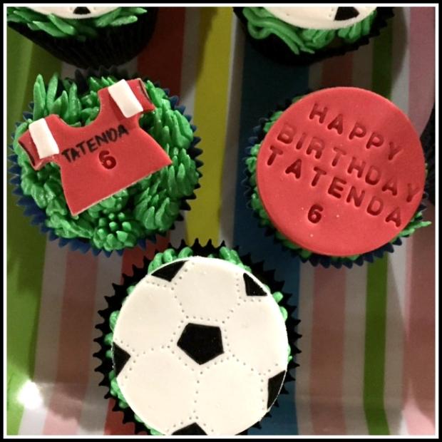 Arsenal Football Birthday Cupcakes
