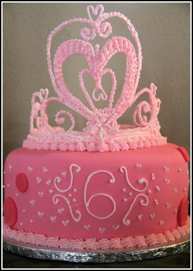 Pink Princess Tiara Cake 1