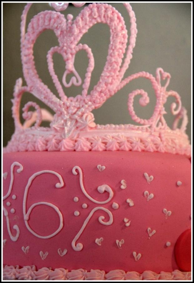 Pink Princess Tiara Cake 2