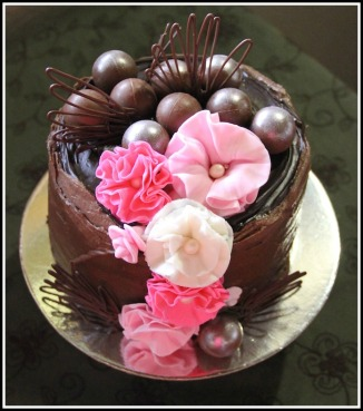 Dark Choc Ganache Celebration Cake