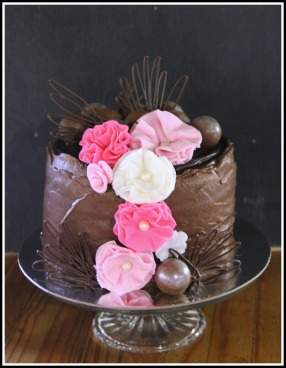 Dark chocolate ganache celebration cake