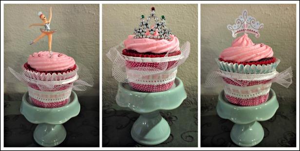 Pink Ballet Red Velvet Cupcakes