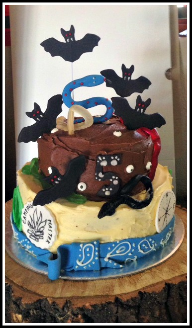 Outdoor-themed cake